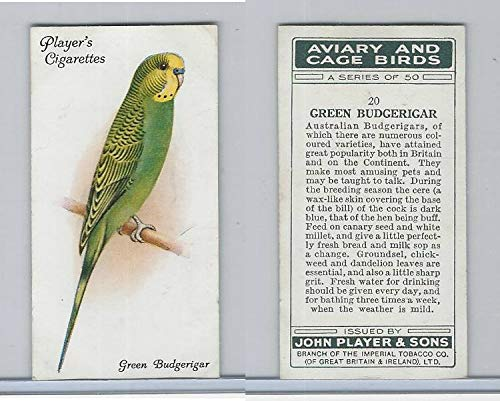 P72-66 Player, Aviary & Cage Birds, 1933, 20 Green