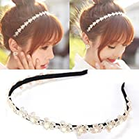 Womens Korean Pearls Clip Hairbands Wedding Fashion Headband Hair Accessories by JASSINS