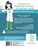 Makerspace Lab Disposable Lab Coats, White, Child
