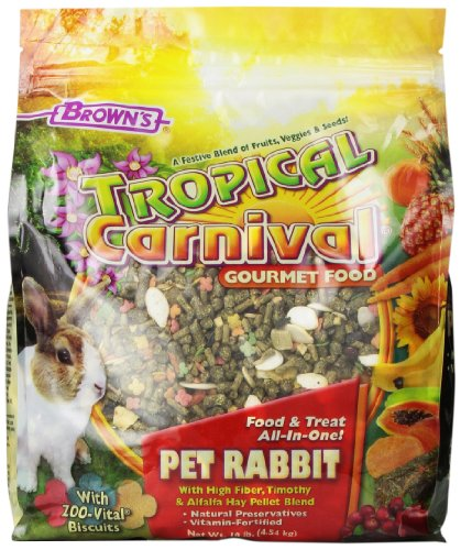 F.M.Brown's Tropical Carnival Rabbit Food, 10-Pound Package
