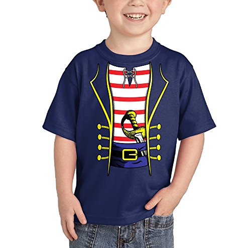 HAASE UNLIMITED Toddler/Infant Pirate Costume T-Shirt (4T, Navy (Scary Pirate Boys Costume)
