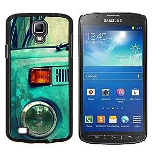 EJOOY---Cubierta de la caja de protección para la piel dura ** Samsung Galaxy S4 Active i9295 ** --Azul Hippy Van