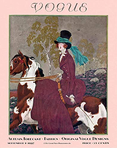 Vintage - Vogue Magazine Cover from 1927 - Woman Riding Sidesaddle - 11 x 14 Unframed Print - Art Prints