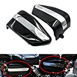 #6: Alpha Rider Motorcycle ABS Black Side Fairing Battery Covers Guard Protector For Honda Rebel 250 CA250 CMX250 1996 - 2005