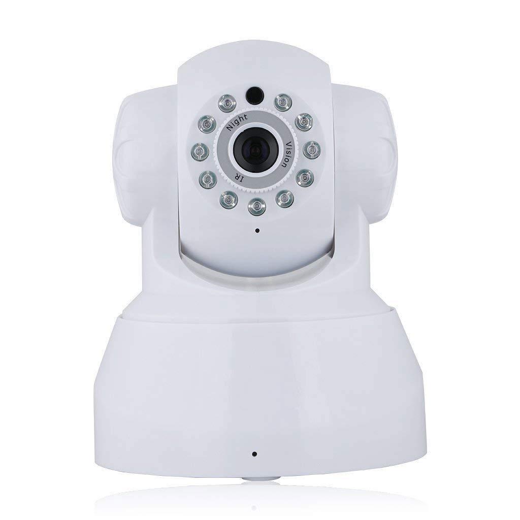 Asdf 720P HD Voice Intercom Network Surveillance Camera Wifi Night Vision Camera (Color : White)