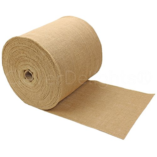 cleverdelights-12-premium-burlap-roll-100-yards-no-fray-finished-edges-natural-jute-burlap-fabric