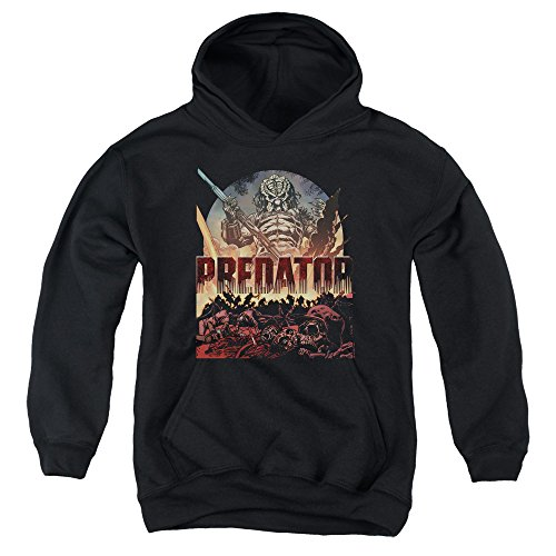 Predator Battle Unisex Youth Pull-Over Hoodie for Boys and Girls ()
