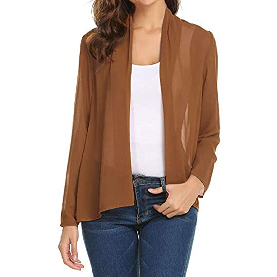 Amazon.com: ZOMUSAR Women Lightweight Open Cardigan Shrug ...