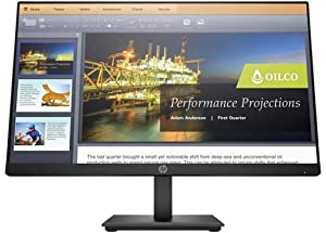 HP P224 21.5 Inch Full HD LED LCD Monitor - HDMI - DisplayPort - 1920 x 1080, Black
