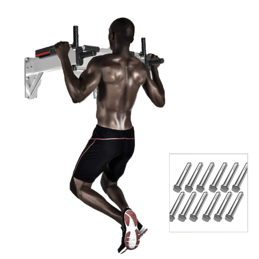 Pull-Up Rack Multi-Function Trolley Bar Power Tower Sandbag Shelf Suitable for Home Gym Exercise Strength,Silver