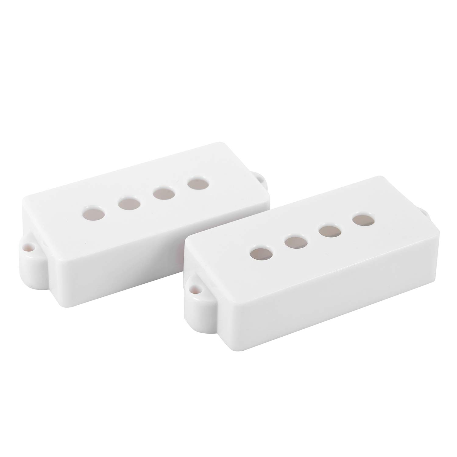 SODIAL 2PCS Electric Guitar PB P-Bass Pickup Covers 28.5MM Space white Great Replacement White