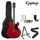 Epiphone ES-335 Dot Archtop Electric Guitar Kit with ChromaCast Accessories, Cherry