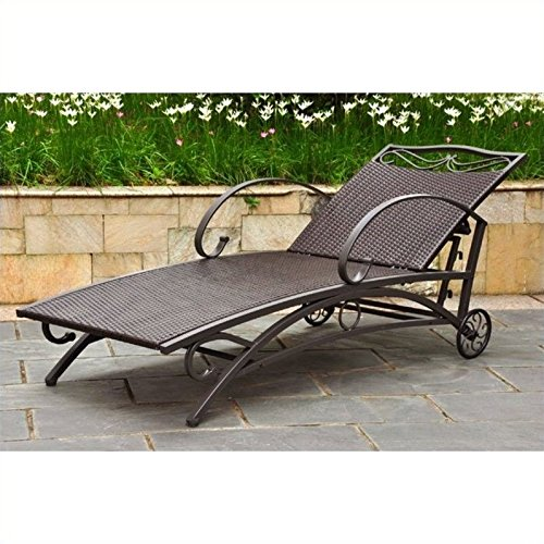 (International Caravan Valencia Outdoor Wicker Multi Position Chaise Lounge )