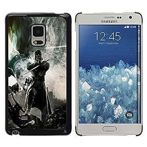 LECELL--Funda protectora / Cubierta / Piel For Samsung Galaxy Mega 5.8 -- Guerrero oscuro --