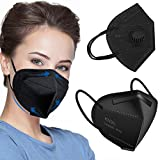 50 PCS Adult_kn95_Face_Màsk, 5-Ply Filtеr BEF>95% FDẴ Certified Black Màsk Unisex-Adult Face Màsk Elastic Ear Loops and Nose Clips for Single Daily Use, High Filtration and Ventilation Security
