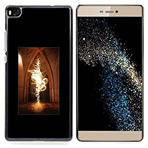 Fairytale Magic Fire Castle Witchcraft Flames Caja protectora de pl??stico duro Dise?¡Àado King Case For HUAWEI P8