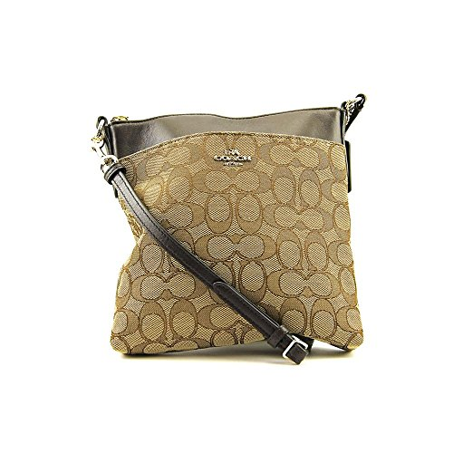 COACH Women's Signature North/South Swingpack Light/Khaki/Brown Cross Body by Coach
