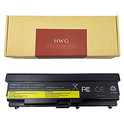 HWG T410 Battery 87 Wh 9 Cells for Lenovo ThinkPad T410 T420 T510 T520 SL510 E40 E50 0578 E420 E525 L410 L412 L420 L421 Sl410 Sl510 W510 W520 0A36303 42T4751 from Hwg