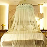 Dome premium mosquito net,Princess bed canopy for twin Queen and king size bed-D