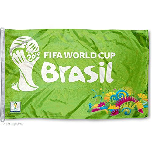 2014 World Cup Soccer Flag 3x5 Large Commemorative FIFA World Cup Brasil Banner