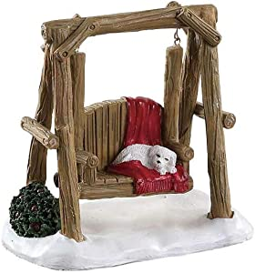 Lemax Village Collection Rustic Log Swing #84363