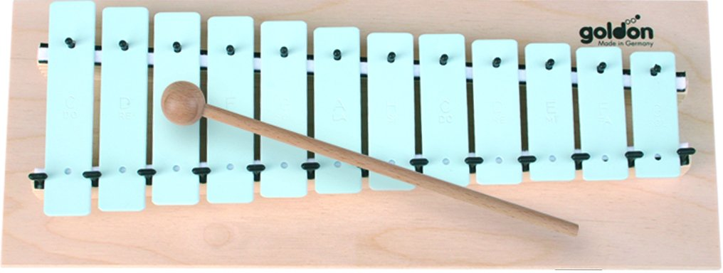 Goldon 11063 12 Sound Plates Metallophone - Blue