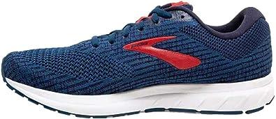 Brooks Revel 3, Zapatilla de Correr para Hombre, Poseidón/Azul Marino/Rojo, 44 EU: Amazon.es: Zapatos y complementos