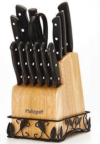 Pfaltzgraff 14-Piece Stamped Triple Riveted Knife Block Set -  5156204