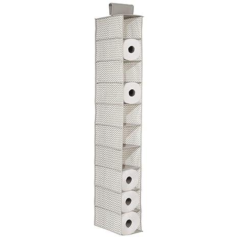 mDesign Porta rollos cocina múltiple - Para colgar, sin taladrar - Práctico organizador de cocina