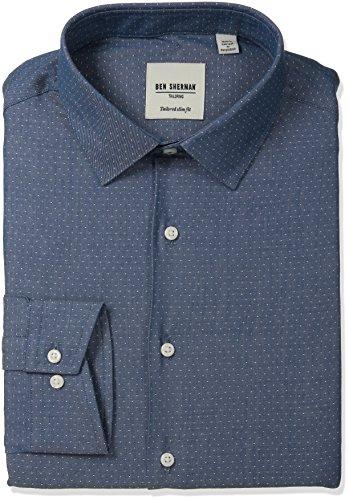 ben-sherman-mens-slim-fit-dot-dobby-spread-collar-dress-shirt-navy-165-neck-34-35-sleeve