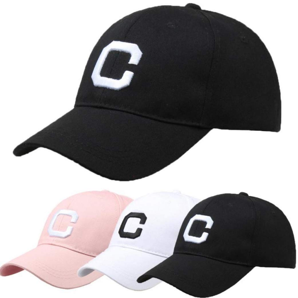 Men Women Letter Hats Hip-Hop Adjustable Baseball Cap Summer Female hat Straw hat