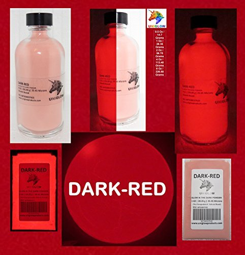 UniGlow 暗闇で輝く蛍光粉末染料  4 Oz / 113.40 Grams 43207-7841 B01MT2XJDR 4 Oz / 113.40 Grams|Dark-Red Dark-Red 4 Oz / 113.40 Grams