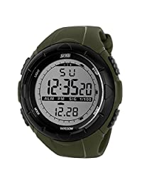 Willtoo(TM) Cool Men Sport Waterproof Glow Dark LED Digital Wrist Watch (green)