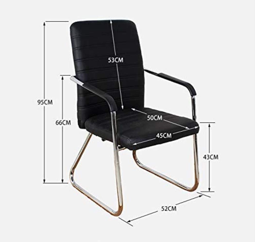 Skrivbordsstolar kontorsstol möte svängbar stol huvudpersonal hög rygg studenter träning fyrbruten läderögla kontor (färg: C) b