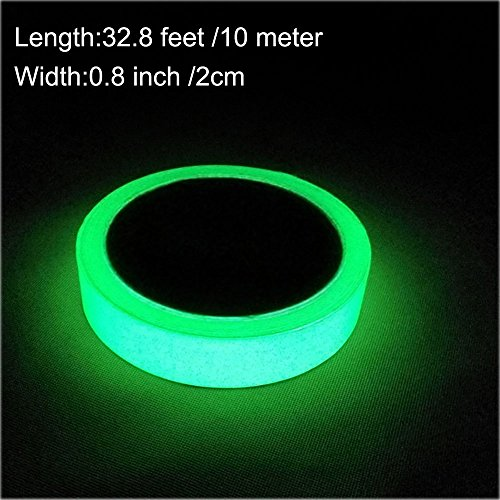 Body Art Glass (ARTGEAR Glow in the dark self-adhesive tape, green light safe luminous tape sticker, 32.8 ft x 0.8 inch (10m x 2cm): waterproof, removable, durable, wearable, stable, safety)