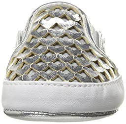 Nine West Girls\' Debslipon Loafer, Silver, 1 M US Infant