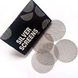 Corsion 100 Pieces Stainless Steel Screens Pipe Screens Smoking Pipe Screen Filters-for a Cleaner, Safer, Ash-Free Smoke(100/200/300Pcs) (100Pcs)