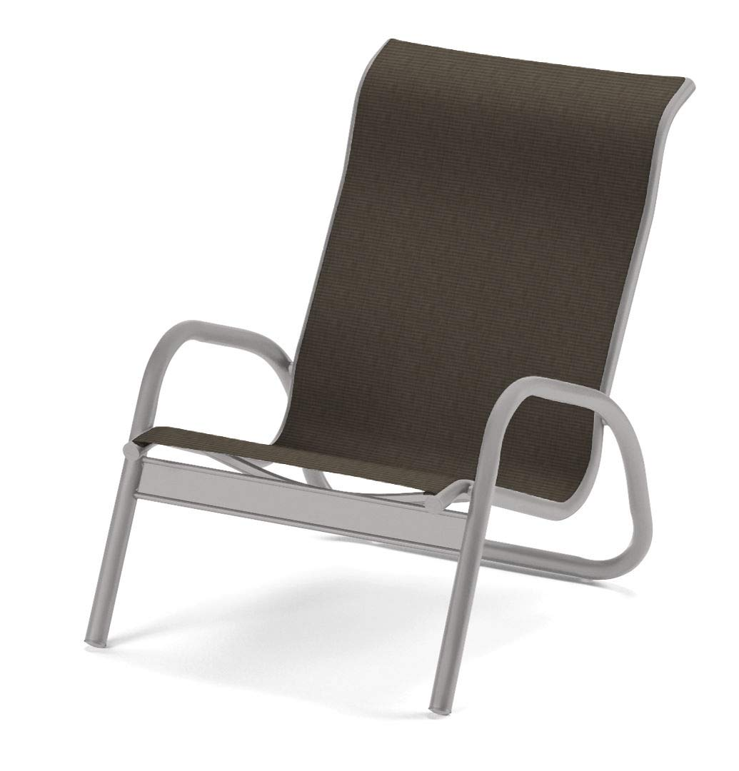 Telescope Casual Furniture Gardenella Sling Collection Stacking Aluminum Poolside Chair, Beacon, Gloss White Finish by Telescope Casual