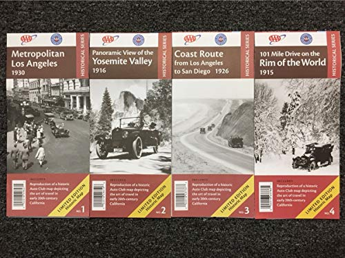 AAA/ACSC 2018 Limited Edition Historic California Set of 4 Reprint Maps