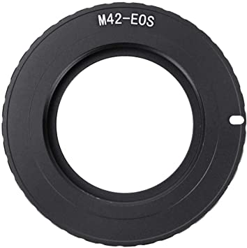 Vbestlife Lens Adapter Ring Manual Focus Lens,M42-EOS Metal Lens Mount Adapter Ring for M42 Lens to Fit for Canon EOS Mount Camera.