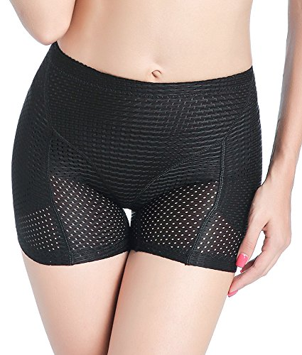 DODOING Women's Boyshorts Panties with Butt Pads and Hip Enhancer Body Sculpting Underwear