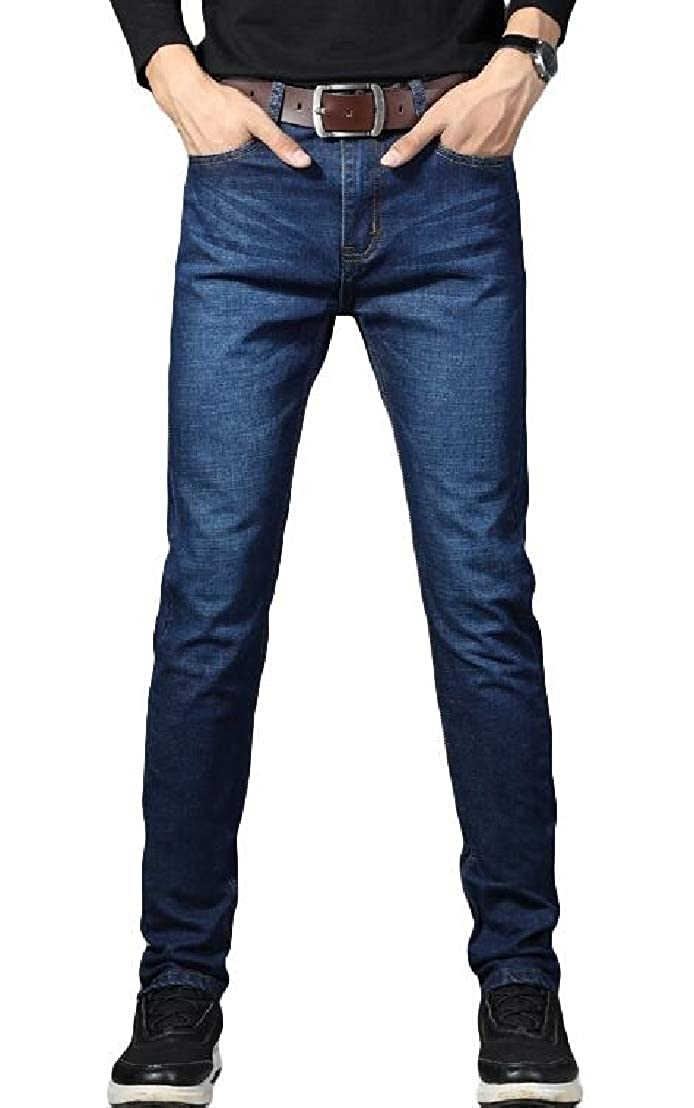 GRMO Men Plus Size Straight Leg Business Casual Jeans Denim Pants