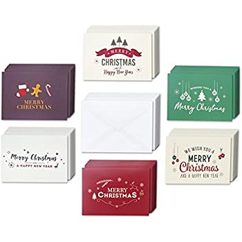 Amazon 36 pack merry christmas greeting cards bulk box set 48 pack merry christmas greeting cards bulk box set winter holiday xmas greeting cards with retro modern designs envelopes included 4 x 6 inches m4hsunfo