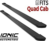 Ionic Gladiator Black Running Boards 2002-2008 Dodge Ram Quad Cab