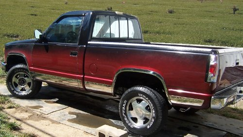Made In USA! Works With 82-93 Chevy S-10 Extended Cab Short Bed Rocker Panel Trim Body Side Moulding 5