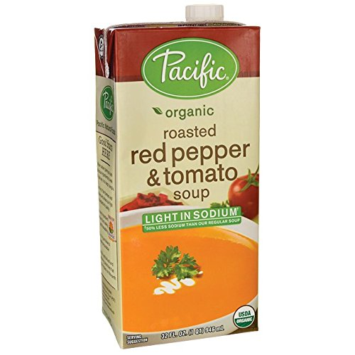 Pacific Natural Roasted Red Pepper and Tomato Soup, 32-ounce Cartons (Case of 12)