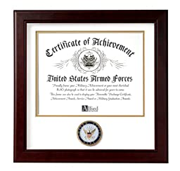 Allied Frame United States Navy Certificate of Achievement Frame
