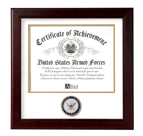 Allied Frame United States Navy Certificate of Achievement (Navy Award)