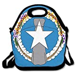 FutongHuaxia Flag Of The Northern Mariana Islands Outdoor Lunch Bag Lunch Box Thermal Insulated Cooler Lunch Pouch Picnic Bag For School Gift