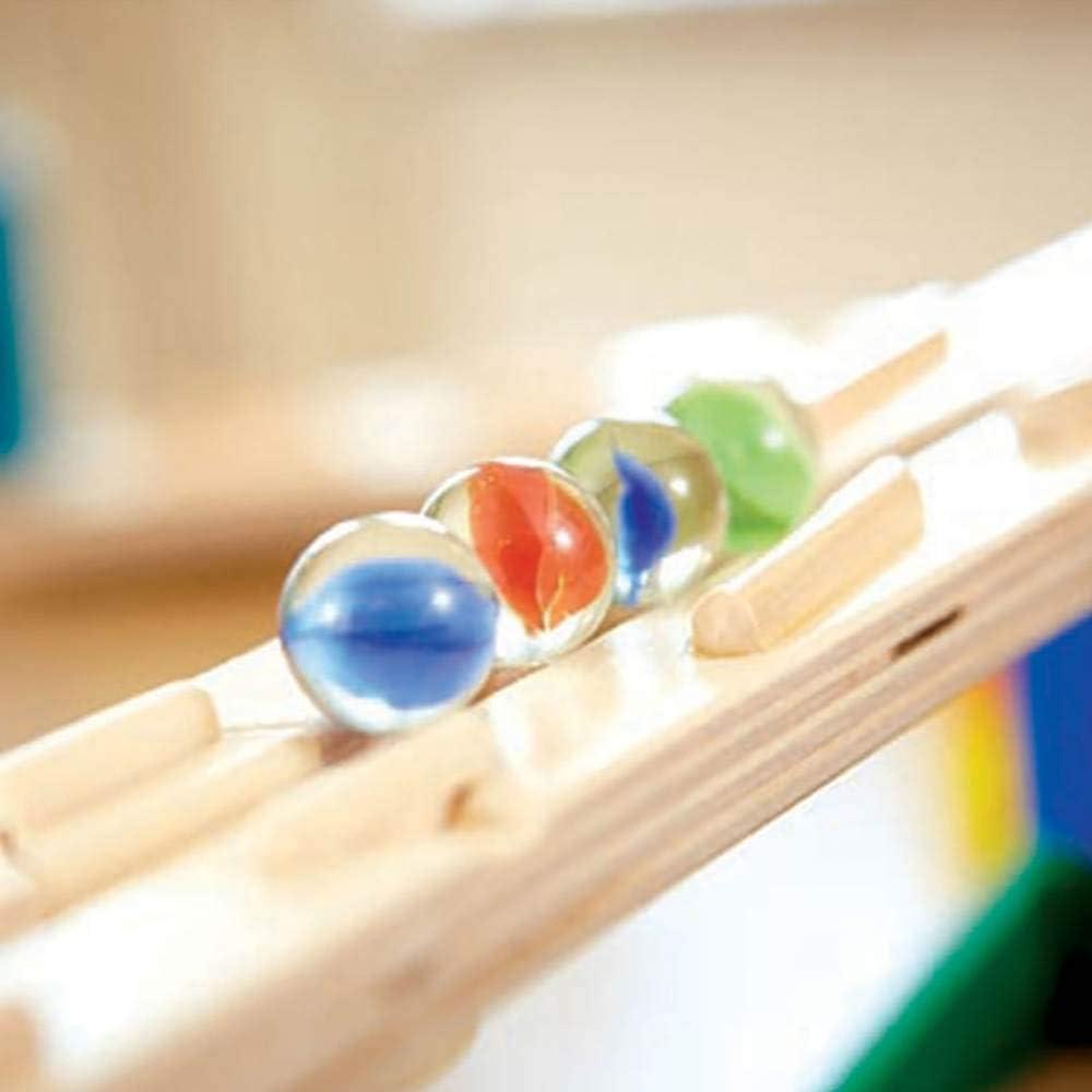 Hape Quadrilla Marble Runs Kids Wooden Music Motion Blocks Play Set with Marbles